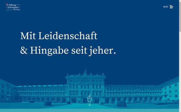 Titelbild zu Neue Website Stiftung Juliusspital Würzburg