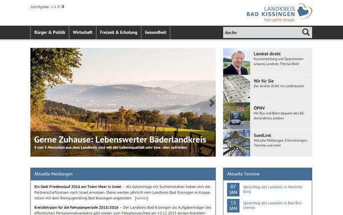 Titelbild zu Frisch gestrichen!<br><br>Relaunch Landkreis Bad Kissingen