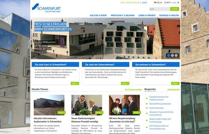 Titelbild zu 2 auf einen Streich: <br><br>Relaunch Stadt Schweinfurt sowie Launch der Micropage zum Friedrich Rückert Gedenkjahr