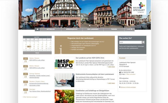Titelbild zu Jetzt NEU: <br>Landkreis Main-Spessart im Responsive Design