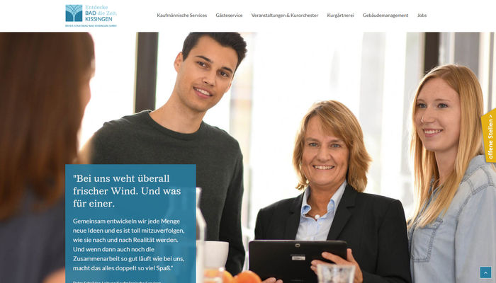 Titelbild zu Programmierung innovatives Karriereportal für <br>Bayer. Staatsbad Bad Kissingen GmbH