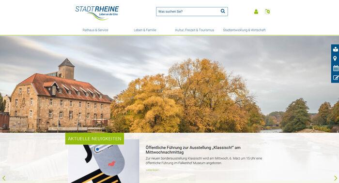 Titelbild zu Relaunch Stadt Rheine und Rheine Tourismus