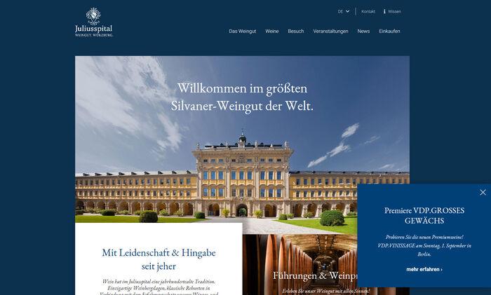 Titelbild zu Relaunch Weingut Juliusspital Würzburg