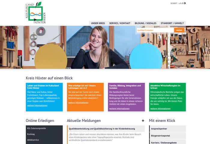 Titelbild zu Neue Homepage Kreis Höxter<br><br>www.kreis-hoexter.de