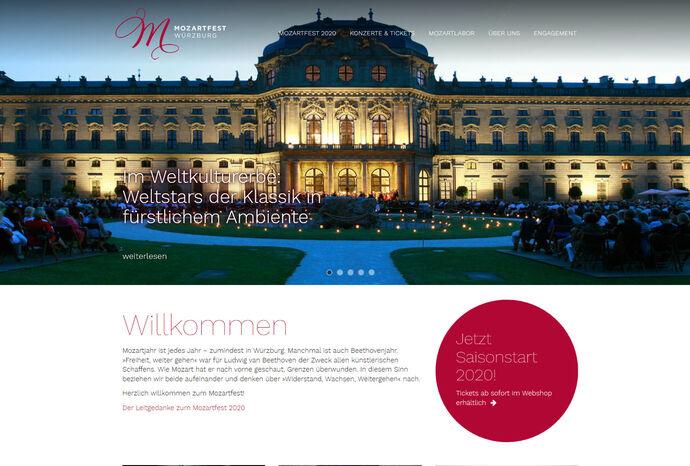 Titelbild zu Relaunch Mozartfest Würzburg