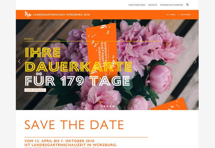 Titelbild zu Website zur Landesgartenschau 2018