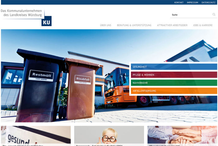 Titelbild zu Relaunch Kommunalunternehmen des Landkreises Würzburg